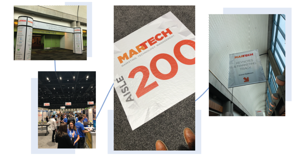 Collage of images taken at Martech conference 2019
