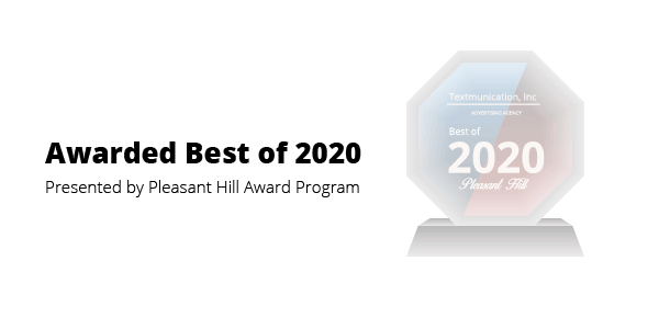 Graphic announcing award from pleasant hill award program