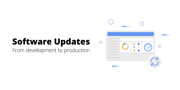 Software updates section graphic with text
